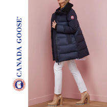 CANADA GOOSE Blended Fabrics Plain Medium Elegant Style Down Jackets