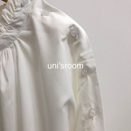Shirts & Blouses Plain Cotton Elegant Style Puff Sleeves Shirts & Blouses 17