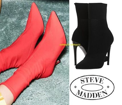 Steve Madden Ankle & Booties Casual Style Street Style Plain Pin Heels 4