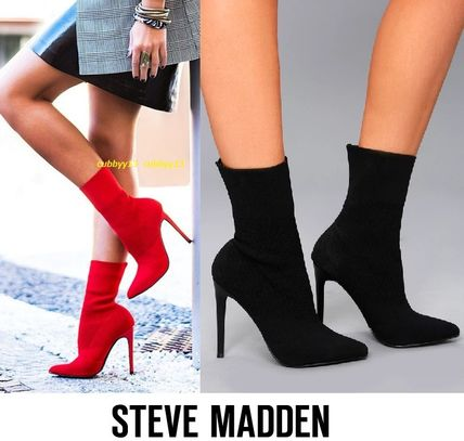 Steve Madden Ankle & Booties Casual Style Street Style Plain Pin Heels 3