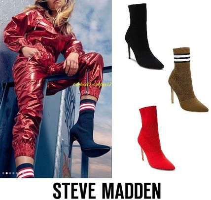 Steve Madden Ankle & Booties Casual Style Street Style Plain Pin Heels 2