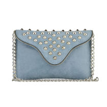 J.J. WINTERS Casual Style Studded Plain Leather Shoulder Bags