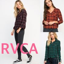 RVCA Gingham Glen Patterns Casual Style Street Style Long Sleeves