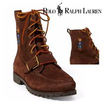POLO RALPH LAUREN Plain Toe Mountain Boots Other Animal Patterns Leather