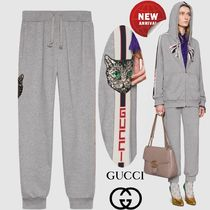 GUCCI Casual Style Sweat Plain Long Sweatpants