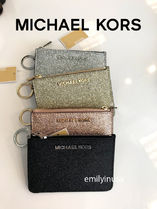 Michael Kors JET SET TRAVEL Leather Keychains & Bag Charms