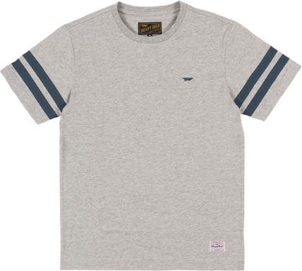 Henry Neck Street Style Cotton Short Sleeves Henley T-Shirts
