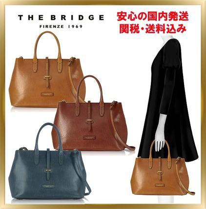 Unisex A4 Plain Leather Office Style Totes