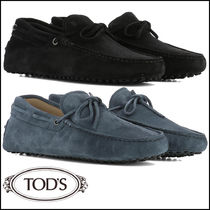 TOD'S Loafers Suede Street Style Plain Loafers & Slip-ons