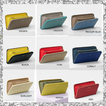 CELINE Zipped Bi-color Plain Leather Long Wallets