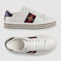 GUCCI Other Animal Patterns Leather With Jewels Low-Top Sneakers