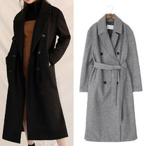 Plain Long Elegant Style Duffle Coats