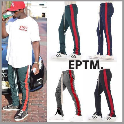Stripes Street Style Bi-color Joggers & Sweatpants
