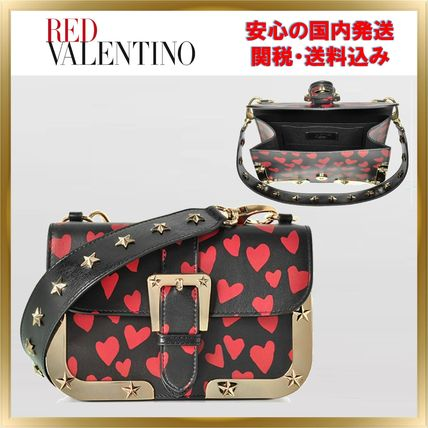 Heart Star 2WAY Leather Elegant Style Shoulder Bags