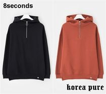 8SECONDS Pullovers Long Sleeves Plain Oversized Hoodies