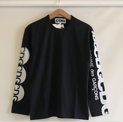 COMME des GARCONS More T-Shirts Crew Neck Unisex Street Style Long Sleeves Cotton 18