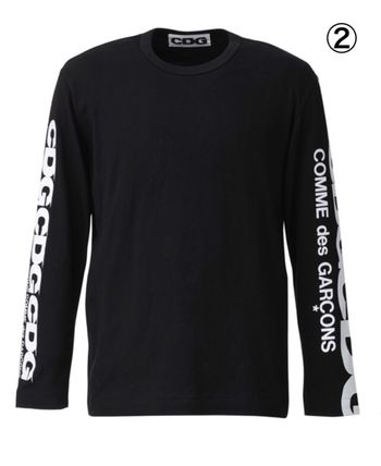 COMME des GARCONS More T-Shirts Crew Neck Unisex Street Style Long Sleeves Cotton 4