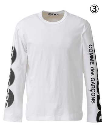 COMME des GARCONS More T-Shirts Crew Neck Unisex Street Style Long Sleeves Cotton 5