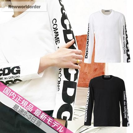 COMME des GARCONS More T-Shirts Crew Neck Unisex Street Style Long Sleeves Cotton