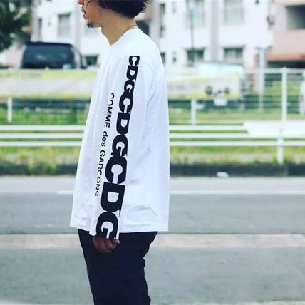 COMME des GARCONS More T-Shirts Crew Neck Unisex Street Style Long Sleeves Cotton 3