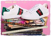 GUCCI Unisex Leather Low-Top Sneakers