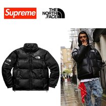 Supreme Street Style Collaboration Leather Down Jackets