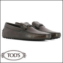 TOD'S Loafers Street Style Plain Leather Loafers & Slip-ons