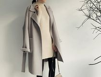 Plain Long Oversized Elegant Style Chester Coats