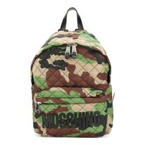 Moschino Camouflage Casual Style A4 Backpacks