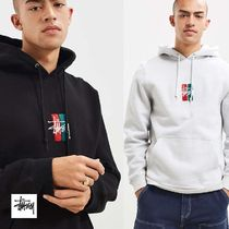 STUSSY Sweat Long Sleeves Plain Hoodies