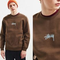 STUSSY Crew Neck Sweat Long Sleeves Sweatshirts
