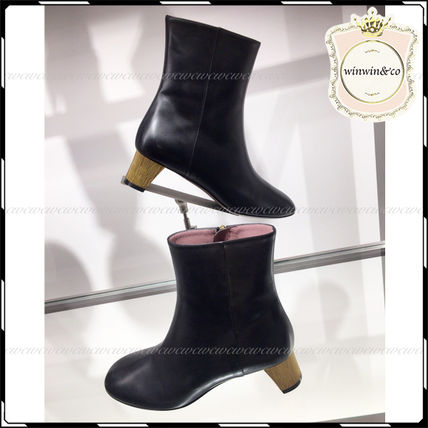 4a4db25d316 GUCCI Plain Toe Leather Wedge Boots (404020) by winwinco - BUYMA