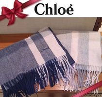 Chloe Other Check Patterns Unisex Cashmere Elegant Style