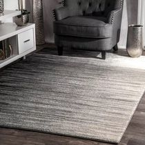 Stripes Black & White Carpets & Rugs