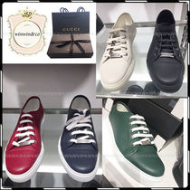GUCCI Plain Leather Sneakers