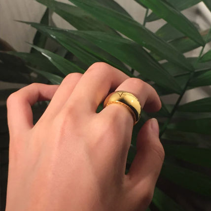 Rings Unisex Street Style Plain Metal Rings 3