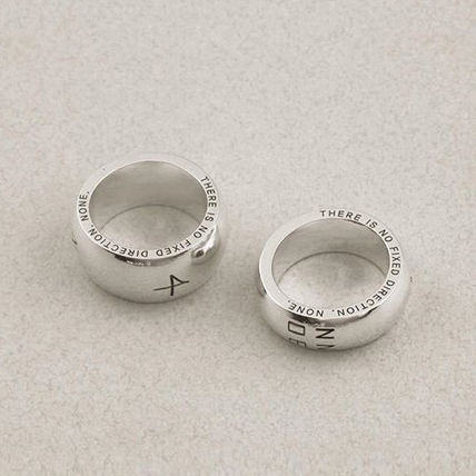 Rings Unisex Street Style Plain Metal Rings 4