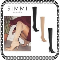 SIMMI Pin Heels Elegant Style Over-the-Knee Boots