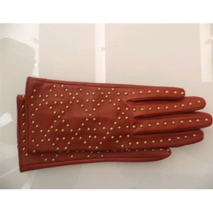 Christian Dior Studded Leather Leather & Faux Leather Gloves