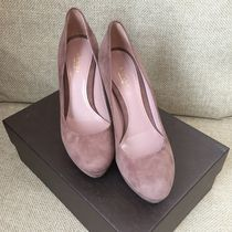 GUCCI Suede Elegant Style High Heel Pumps & Mules