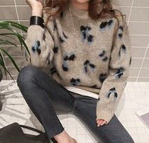 NANING9 Leopard Patterns Casual Style Long Sleeves