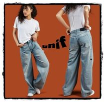 UNIF Clothing Casual Style Denim Plain Long Jeans