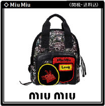 MiuMiu Flower Patterns Casual Style 2WAY Other Animal Patterns