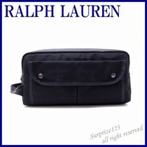 POLO RALPH LAUREN Camouflage Nylon Street Style Plain Clutches