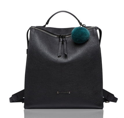 Street Style A4 Plain Leather Office Style Backpacks