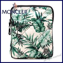 MONCLER Tropical Patterns Nylon Bi-color Clutches