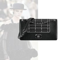 CHANEL Casual Style Lambskin 2WAY Chain Clutches