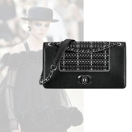 Casual Style Lambskin 2WAY Chain Clutches