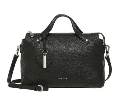 Street Style 2WAY Plain Leather Office Style Totes