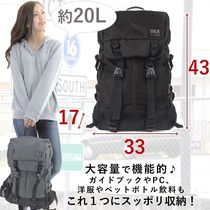 Camouflage Casual Style Nylon Plain Backpacks